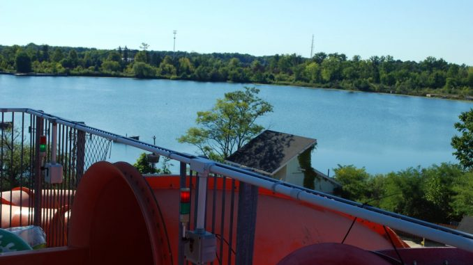 Geauga Lake from Wildwater Kingdom's Water Slide – From SeaWorld